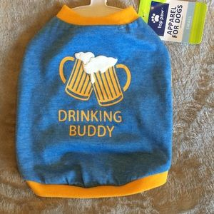 Top Paw Drinking Buddy Shirt For Dogs